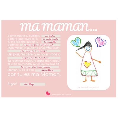 """Affiche à imprimer et compléter """" ma maman"""""""