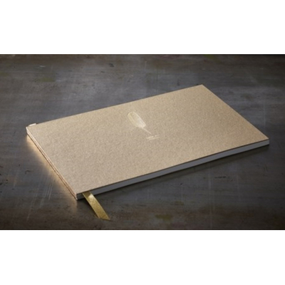 "Grand livre d'or kraft  ""plume - livre d'or"" 34 x 21 cm"