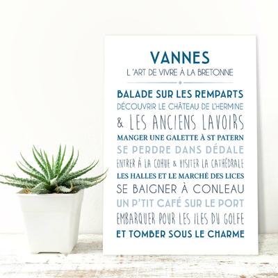 """Carte """"Vannes, l'art de vivre à la bretonne"""""""