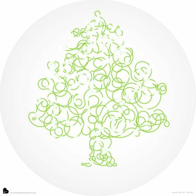 Kit arbre de réveillon à empreintes + 3 encreurs