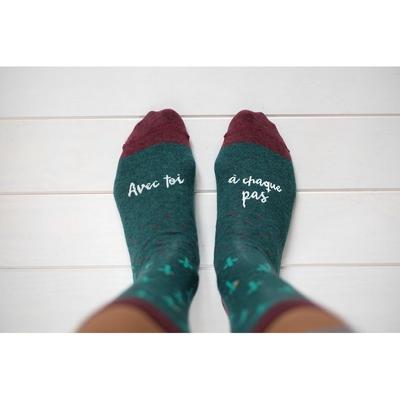 """Chaussettes homme """"avec toi à chaque pas"""""""