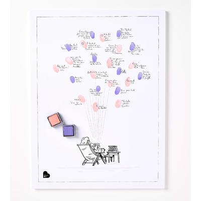 Affiche départ en retraite pour une femme (kit affiche + 2 encreurs)