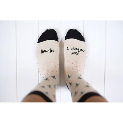 """Chaussettes """"avec toi à chaque pas"""""""