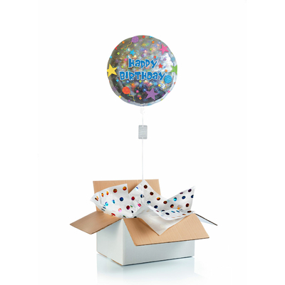 """Ballon d'anniversaire gonflé à l'hélium """"confettis"""""""