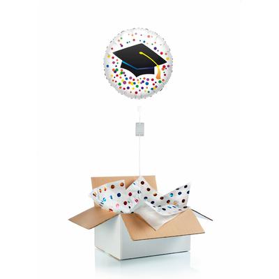 """Ballon gonflé à l'helium pour dire """"félicitations"""" à un étudiant"""