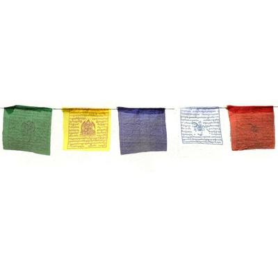 25 drapeaux de prières tibétains