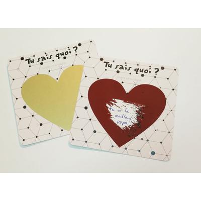 2 cartes à gratter avec ton message personnalisé à découvrir