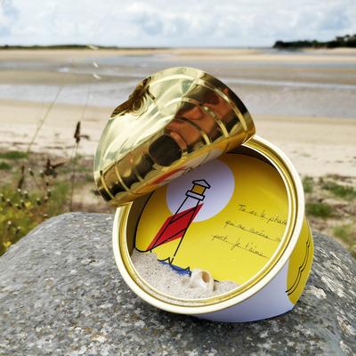 """Message personnalisé dans la boite de conserve """"Bretagne"""""""