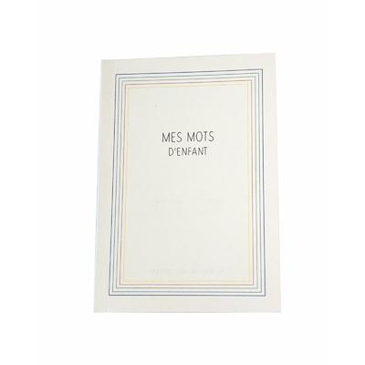 """Carnet """"mes mots d'enfant"""" - recueil de ses perles et bons mots"""