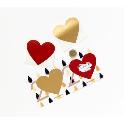 Voeux 2020 : cartes avec vos voeux qui apparaissent en grattant les coeurs