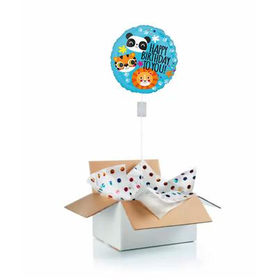 Ballon anniversaire enfant gonflé à l'hélium : panda, tigre, lion
