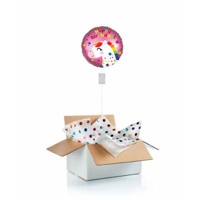 Ballon anniversaire enfant gonflé à l'hélium : poney licorne