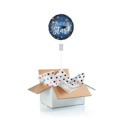 """Ballon gonflé à l'helium pour dire """"félicitations"""" à un étudiant """"you're a star"""""""