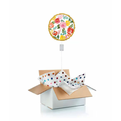 """Ballon """"surprise"""" gonflé à l'hélium : comme un bouquet de roses"""
