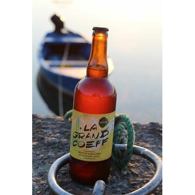 "Bière bretonne artisanale blonde ""la Grand Coeff"" 75 cl"