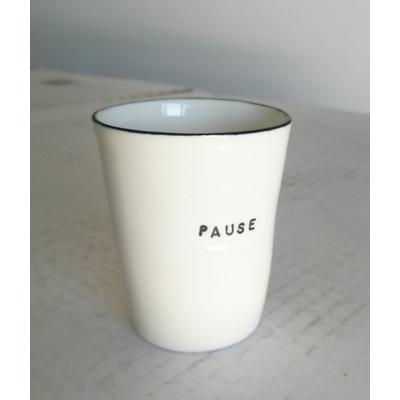 """Tasse à café """"Pause"""" - porcelaine artisanale bretonne"""
