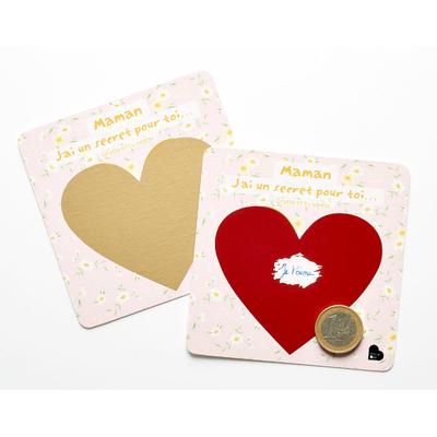 """2 cartes à gratter """"Maman, j'ai un secret pour toi..."""""""