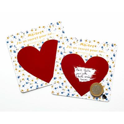 """2 cartes à gratter """"Maitre, j'ai un secret pour toi..."""""""