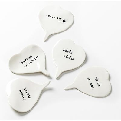 5 pétales de porcelaine à message pour le jardin ou vos plantes intérieures
