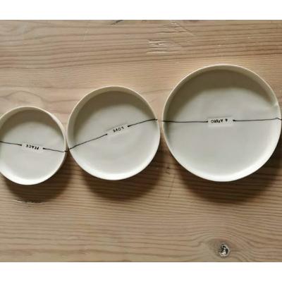 3 plateaux apéritif - porcelaine artisanale bretonne