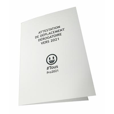 """3 cartes de voeux """"attestation de déplacement dérogatoire vers 2021"""""""