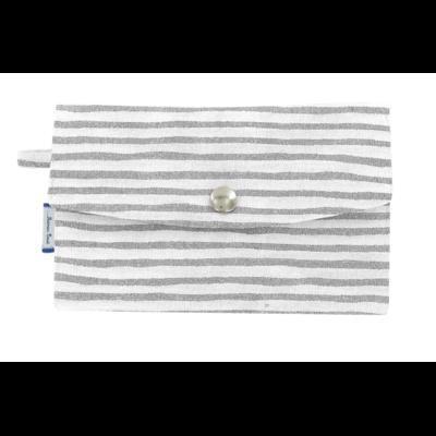 """Portefeuille en tissu """"blanc bleu"""" de la marque """"Papa Pique et Maman Coud"""""""