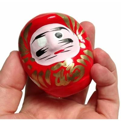 """Daruma rouge, poupée japonaise porte-bonheur """"chance et réussite"""""""