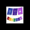 7-chakras-drapeau-priere