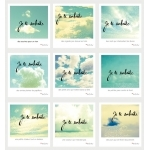 """9 cartes de voeux """"Je te souhaite"""" nuages"""
