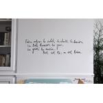 """Sticker Poetic Wall """"tout est là : on est bien"""""""