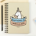 "Carnet d'inspiration ""nothing is impossible"""