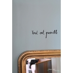 "Sticker Poetic Wall "" Tout est possible"""