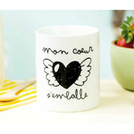 """Mug """"mon cœur s'emballe"""""""