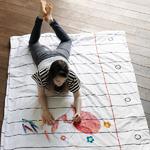 Housse de couette à colorier (simple : 140 x 200 cm)