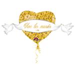 """Ballon gonflable géant """"Vive les mariés"""""""