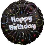 "Ballon gonflable d'anniversaire ""happy birthday"" holographique"