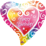 "Ballon gonflable ""Happy Birthday"" en forme de coeur"