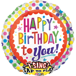 "Ballon d'anniversaire géant qui chante ""happy birthday to you"""
