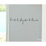 """Sticker Poetic Wall """"Ecoute le clapotis de la vie"""""""