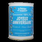 """Boite de chocolats """"100% pur Joyeux Anniversaire"""""""
