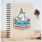 """Carnet d'inspiration """"rien n'est impossible"""""""