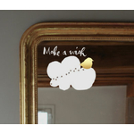 "Sticker Poetic Wall ""make a wish"" (oiseau doré)"