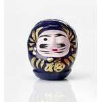 """Daruma violet : poupée japonaise porte-bonheur """"santé et équilibre"""""""