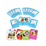Jeu de 52 cartes personnalisé avec les personnages de la famille, géant