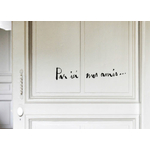 "Sticker Poetic Wall ""Par ici mes amis"""