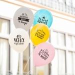 10 ballons d'anniversaire avec messages en français