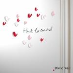 """Stickers """"haut les coeurs"""" et coeurs ombrés"""