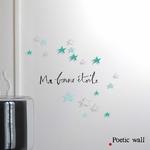 """Stickers """"ma bonne étoile"""" et étoiles ombrées"""