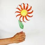 Dans mes pensées : kit de 3 fleurs en papier à découper
