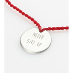 "Bracelet-lien ""never give up"" argent"